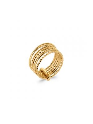 18kt Microplated Multiband Ring with Clip