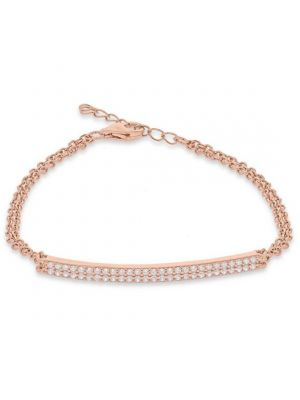 Rose Gold Microplated Double Bar Necklace