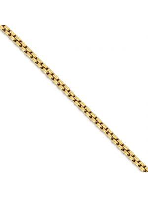 Sterling Silver Gold Plated Link Bracelet