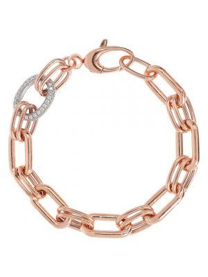 Bronzallure Oval Rolò Chain and Cubic Zirconia Bracelet