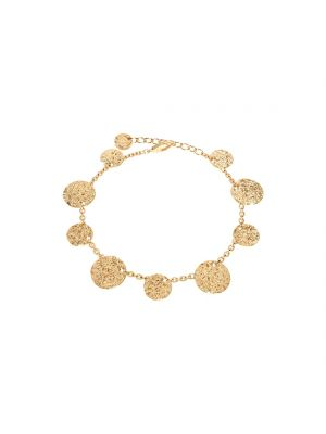 REBECCA 24ct yellow gold microplated on bronze with eight circles bracelet