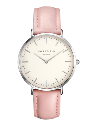 The Bowery Pink Strap, White Face and Silver