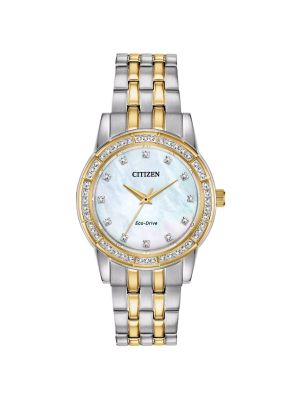 Citizen Two-Tone Silhouette Crystal Ladies Watch