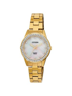 Citizen  Mother of Pearl and Crystal Ladies Watch