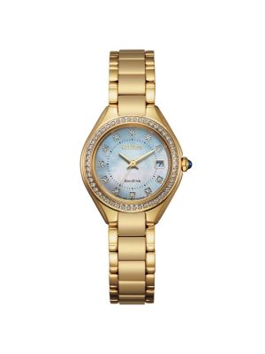 Citizen Gold-Tone Silhouette Crystal Ladies Watch