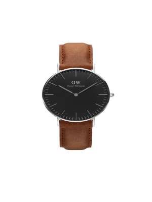 Daniel Wellington Classic Black Durham Silver 36mm