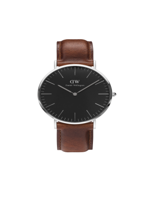 Daniel Wellington Classic Black ST Mawes Silver 36mm