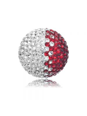 Englesrufer red & white cz large soundball