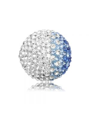 Englesrufer blue & white cz large soundball