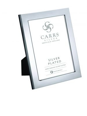 Carrs silver plated 8x6 flat photo frame