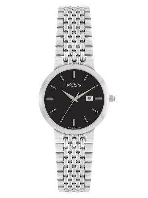 Gents Stainless Steel dress watch with black dial