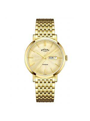 Gents Rotary Windsor Gold Tone Bracelet Watch
