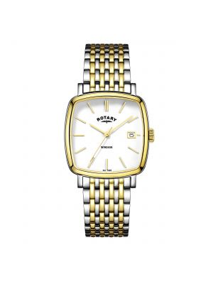 Rotary Men's two tone Windsor Cushion watch