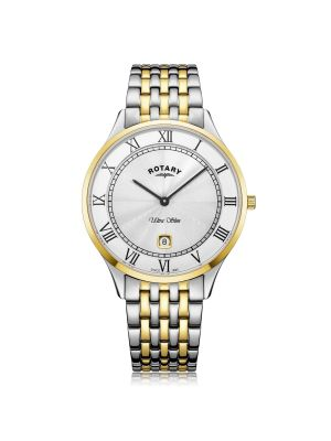Gents Rotary Ultra Slim Two Tone Gold PVD Watch