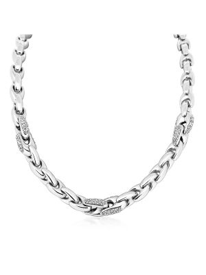 Italian Sterling Silver Cubic Zirconia Necklace