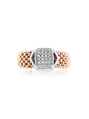 18ct Rose Gold Microplated & Sterling Silver Ring