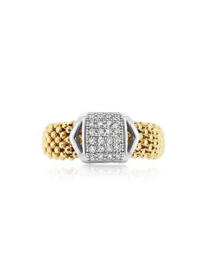 18ct Yellow Gold Microplated & Sterling Silver Ring