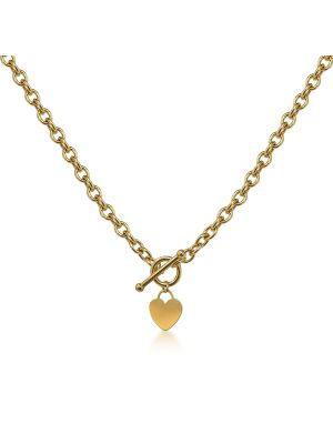 Heart T-bar necklace