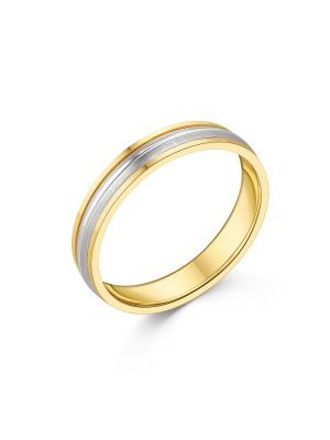 18ct Two Tone Gent's Wedding Ring