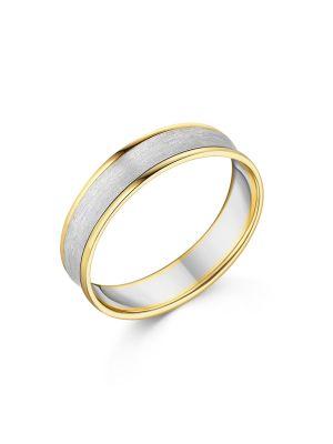 18ct Yellow & White Gold Gent's Wedding Ring