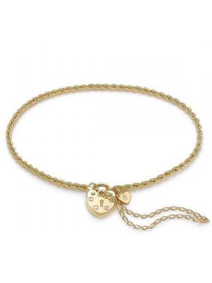 9ct Yellow Gold Rope Padlock Bracelet