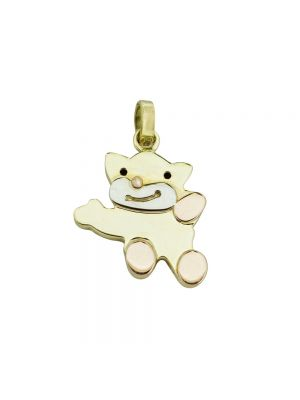 14ct yellow gold & rose gold teddy bear pendant (chain not included)