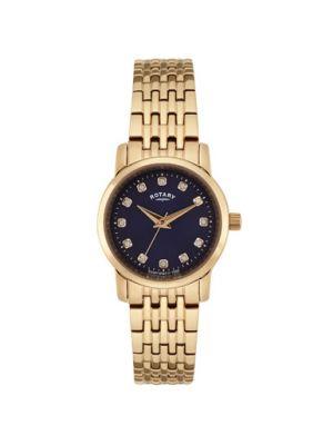 Ladies Rose plate stone set dress watch