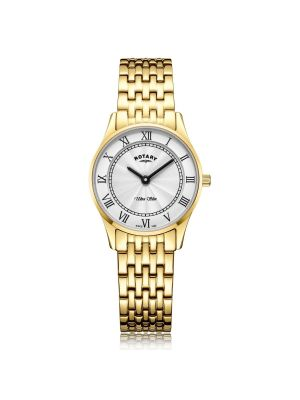 Ladies Rotary Ultra Slim Gold Tone Watch