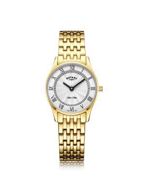 Rotary Ladies Ultra Slim Gold Plated Quartz Watch