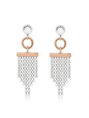 Sterling Silver & Rose Gold Drop Earrings