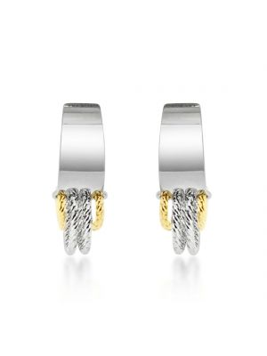 Sterling Silver & Microplated Yellow Gold Small Drop Earrings