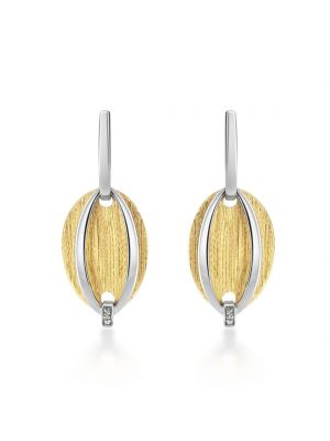 Sterling Silver & Yellow Gold Microplated Drop Earrings