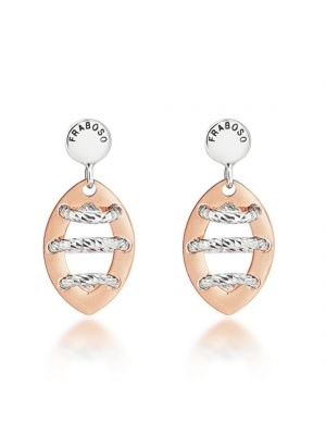 Sterling Silver & Rose Gold Microplated Earrings