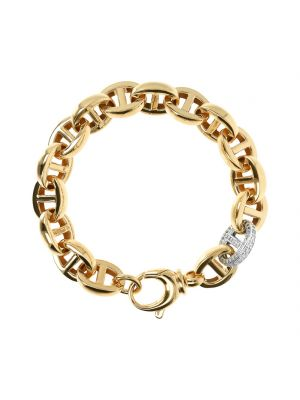 Bronzallure 18ct yellow gold microplated bracelet