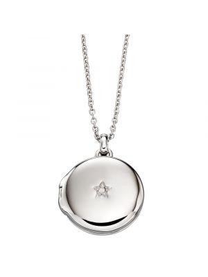 Sterling Silver Diamond Locket
