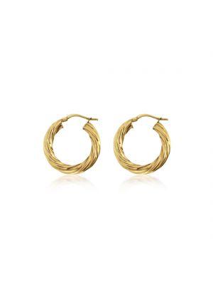 9ct Gold Rope Twist Hoop Earring