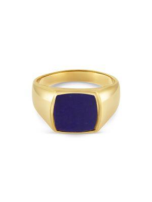 9ct Yellow Gold Gent's Lapis Ring