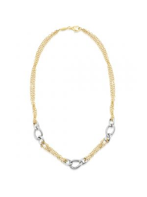 14ct Yellow & White Gold Link Necklace