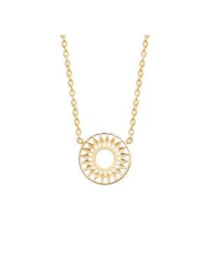 18ct gold microplated round star pendant