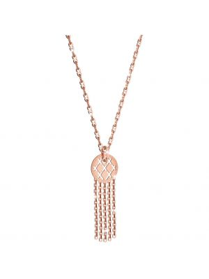 24CT Rose Gold Plated on Bronze Necklace Drop Pendant With Tassle Detail