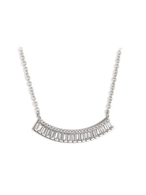 Paul Costelloe Aurora Sterling silver and cz hammock style necklet