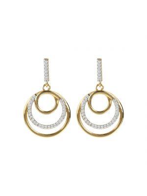 Bronzallure 18ct yellow gold microplated swirl drop earrings