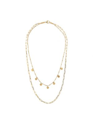 Double Strand Necklace with Forzatina Chain and Golden Rosé Hearts