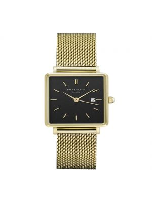 Rosefield The Boxy Black Mesh Gold