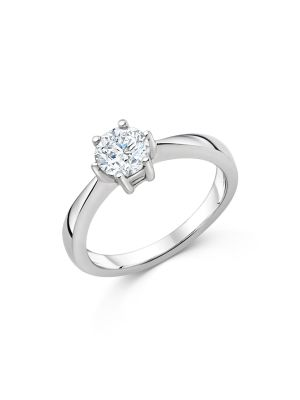 Sterling Silver Single Stone Promise Ring