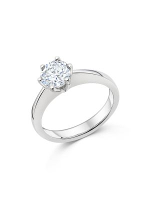 Sterling Silver Solitaire Promise Ring