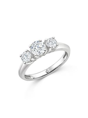 Sterling Silver Three Stone Promise Ring