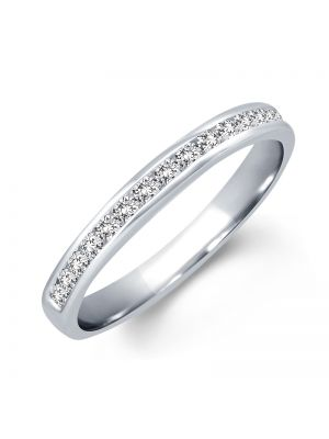 18ct White Gold Round Brilliant Diamond Wedding Band