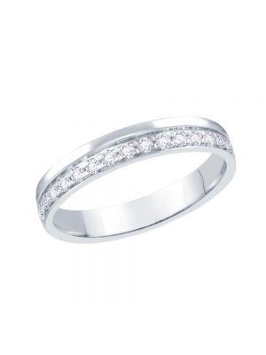 18ct White Gold Pavé Set Diamond Eternity Ring