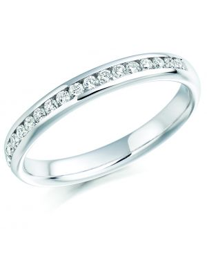 18ct white gold round brilliant channel set eternity ring